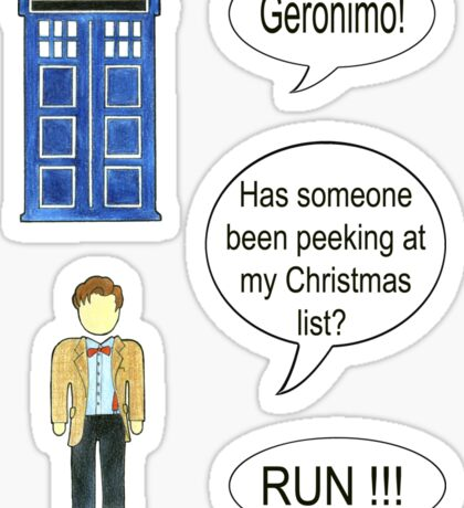 Doctor Who 11 Quote #2 Sticker
