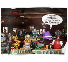 ~ So these robots walk into a bar ...  Poster