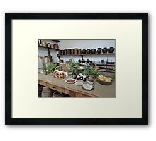 1800s Kitchen Framed Print