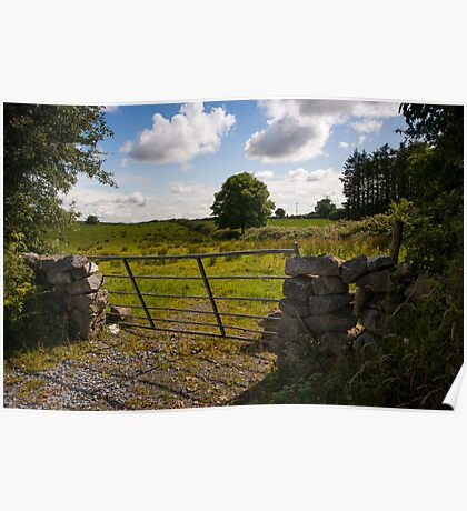 Gate to the Burren fields Poster
