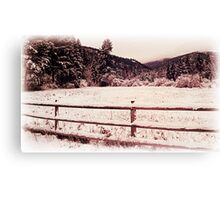 Fence of the Huckleberry Range  Canvas Print