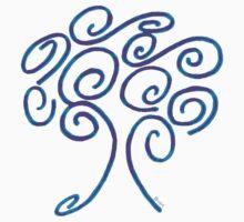 blue fire tree of life Baby Tee