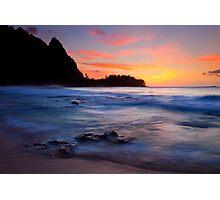 Tunnels Beach Sunset Photographic Print