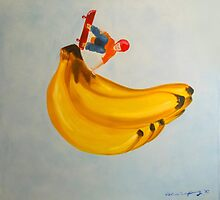 On banana by Valeria  Hannig