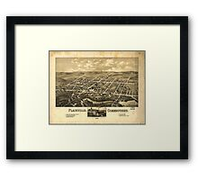 Panoramic Maps Plainville Connecticut 1878 Framed Print