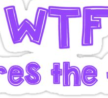 WTF - Wheres the food? Sticker