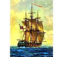 British warship  Photographic Print
