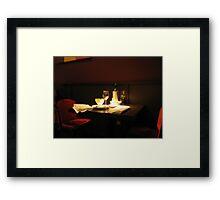 AFTER DINNER Framed Print