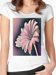 Colorful Daisy Women's Fitted Scoop T-Shirt