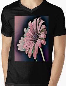 Colorful Daisy Mens V-Neck T-Shirt