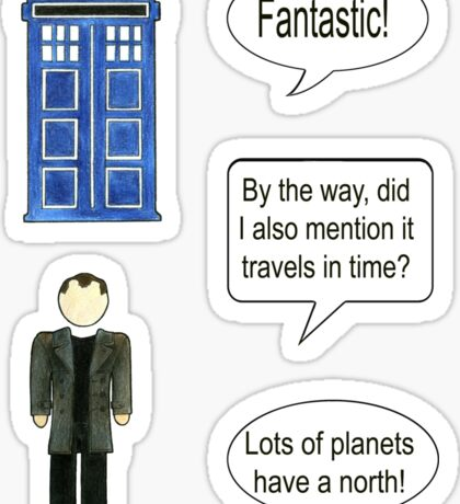 Doctor Who 9 Quote #1 Sticker
