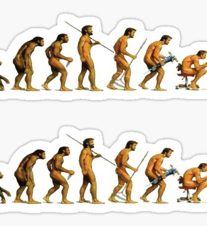 Programmer evolution Sticker