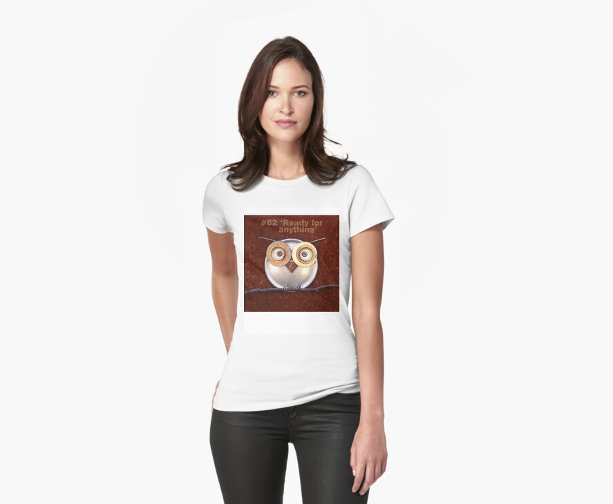 #62 Ready for anything -- T-shirt or sticker by Robyn Stewardson
