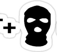 gun plus mask Sticker