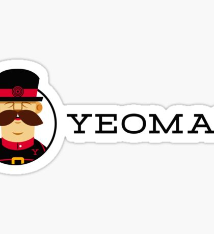 The Official Yeoman Sticker (Horizontal Version) Sticker