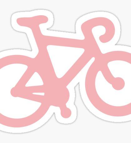 Baby Pink Bike with Stripes Sticker