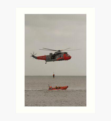 Seaking Helicopter at Dawlish Airshow Art Print