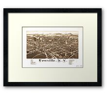 Panoramic Maps Lowville NY Framed Print