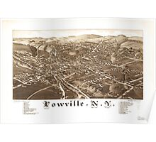Panoramic Maps Lowville NY Poster