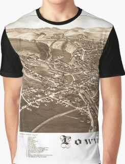 Panoramic Maps Lowville NY Graphic T-Shirt