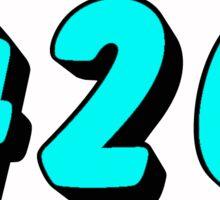 Baby Blue 420 Sticker