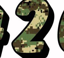 420 Digital Camo Sticker