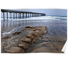 Scripps Pier and the Rock Poster