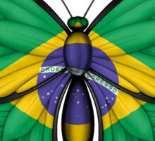 Brazilian Flag Butterfly Sticker