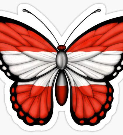 Austrian Flag Butterfly Sticker
