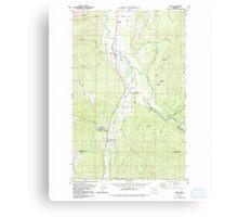 USGS Topo Map Washington State WA Acme 239726 1980 24000 Canvas Print