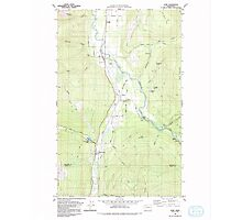 USGS Topo Map Washington State WA Acme 239726 1980 24000 Photographic Print