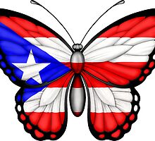 Puerto Rican Flag Butterfly by Jeff Bartels