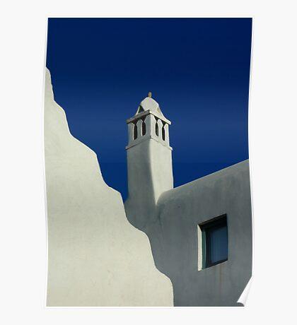 Buildings of Mykonos Poster