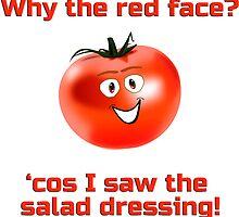 Kids Humor - I Love Tomato - Joke T-Shirt Sticker by deanworld