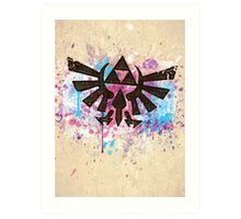Triforce Emblem Splash Art Print