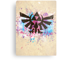 Triforce Emblem Splash Metal Print