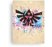 Triforce Emblem Splash Canvas Print