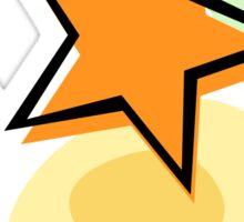 Offset star, orange and green - sticker Sticker
