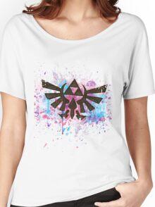 Triforce Emblem Splash Women's Relaxed Fit T-Shirt