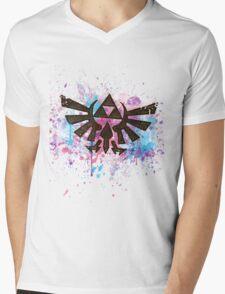 Triforce Emblem Splash Mens V-Neck T-Shirt