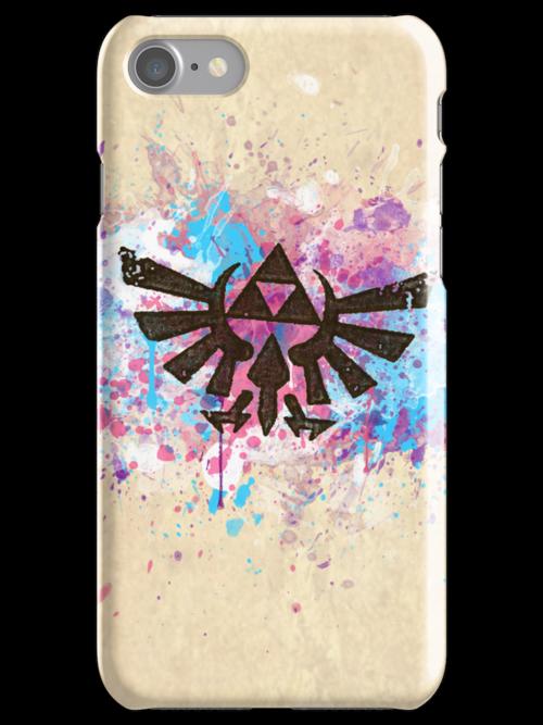 Triforce Emblem Splash by Brittany Houston