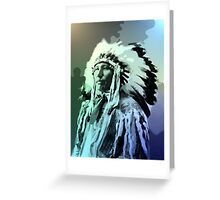 A Young Brule Indian Man Greeting Card