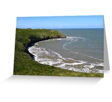 Blue Pool Bay, Near Llangennith, Gower Greeting Card
