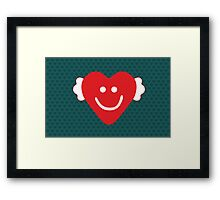 Cute Candy Heart - emerald Framed Print