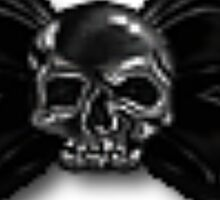 Skull Bow Sticker Sticker