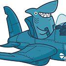 Shark Outta' Water - sticker by Demmy