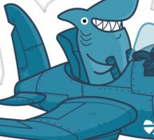 Shark Outta' Water - sticker Sticker