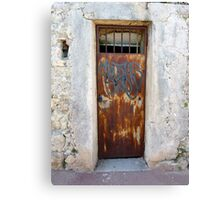 Graffiti On Cap Ferrat Canvas Print