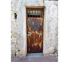 Graffiti On Cap Ferrat Photographic Print