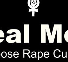 Real Men Oppose Rape Culture Sticker